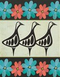 Geese and Floral II