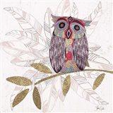 Boho Owl & Feathers II
