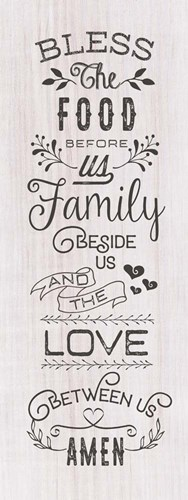 Food, Family, Love Poster by Tammy Apple for $43.75 CAD