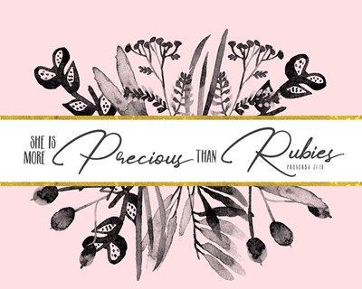 More Precious Than Rubies Poster by Tammy Apple for $40.00 CAD