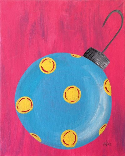 Blue Ornament Poster by Valerie Wieners for $40.00 CAD