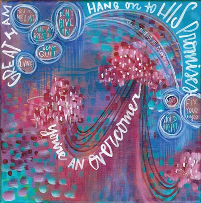Hang on to His Promises Poster by Valerie Wieners for $35.00 CAD
