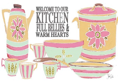 Welcome to Our Kitchen Poster by Shanni Welsh for $38.75 CAD