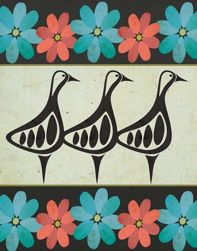 Geese and Floral II Poster by Shanni Welsh for $36.25 CAD