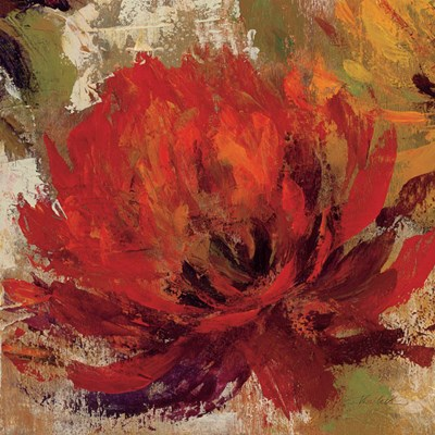 Fiery Dahlias II Crop Poster by Silvia Vassileva for $50.00 CAD