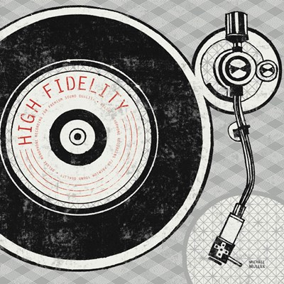 Vintage Analog Record Player Poster by Michael Mullan for $46.25 CAD