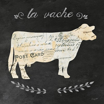 La Vache Cameo Sq Poster by Courtney Prahl for $35.00 CAD