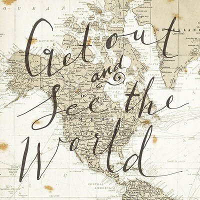 Get Out and See the World Square Poster by Sara Zieve Miller for $53.75 CAD