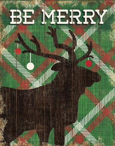 Simple Living Holiday Elk Poster by Michael Mullan for $41.25 CAD