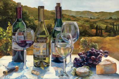 A Wine Tasting Poster by Marilyn Hageman for $73.75 CAD