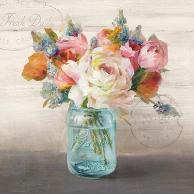 French Cottage Bouquet II Poster by Danhui Nai for $53.75 CAD