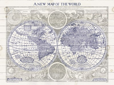 A New Map of the World Poster by Sue Schlabach for $55.00 CAD
