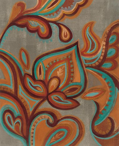 Bohemian Paisley II Turquoise Neutral Poster by Silvia Vassileva for $56.25 CAD