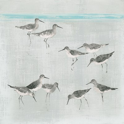 Sandpipers Gray Poster by Avery Tillmon for $35.00 CAD