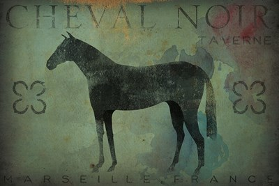 Cheval Noir v1 Poster by Ryan Fowler for $45.00 CAD