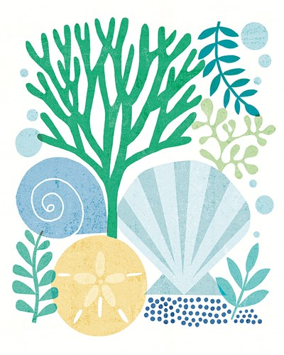 Under Sea Treasures VI Sea Glass Poster by Michael Mullan for $53.75 CAD