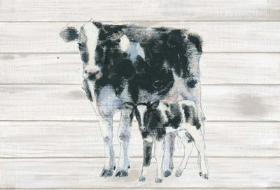 Cow and Calf on Wood Poster by Emily Adams for $65.00 CAD
