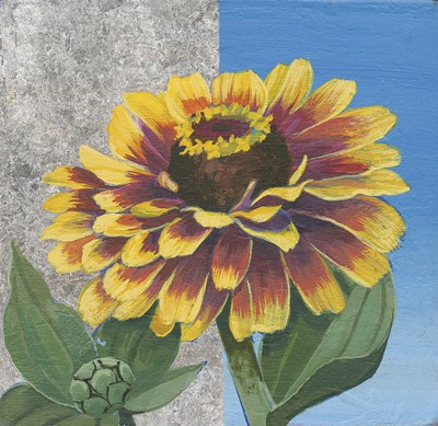Zinnia Spice and Silver Poster by Kathrine Lovell for $55.00 CAD
