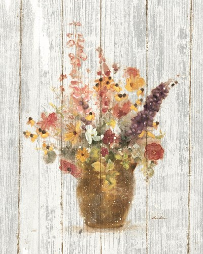 Wild Flowers in Vase I on Barn Board Poster by Cheri Blum for $57.50 CAD