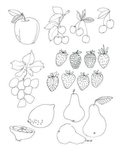 Line Art Fruits Poster by Avery Tillmon for $41.25 CAD