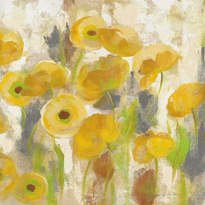 Floating Yellow Flowers V Poster by Silvia Vassileva for $35.00 CAD
