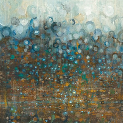 Blue and Bronze Dots Poster by Danhui Nai for $81.25 CAD