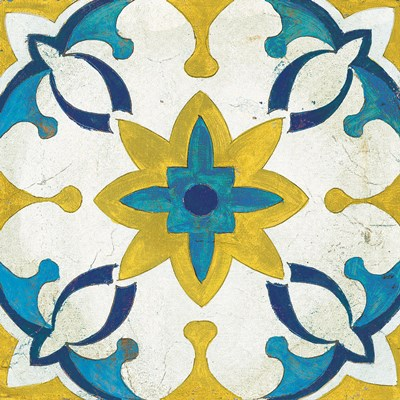 Andalucia Tiles D Blue and Yellow Poster by Silvia Vassileva for $50.00 CAD