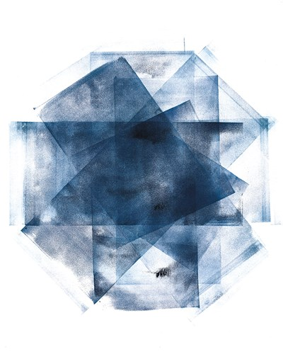 Blue and Gold Element III Poster by Wild Apple Portfolio for $57.50 CAD