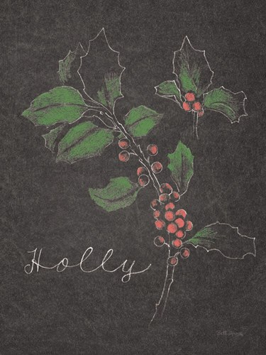 Chalkboard Christmas Greenery II Poster by Beth Grove for $42.50 CAD