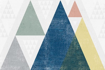 Mod Triangles I Soft Poster by Michael Mullan for $45.00 CAD
