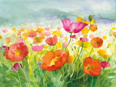 Meadow Poppies Poster by Danhui Nai for $47.50 CAD