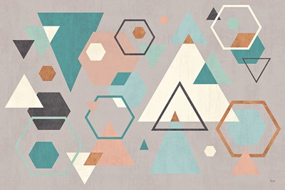 Abstract Geo I Gray Poster by Veronique Charron for $45.00 CAD