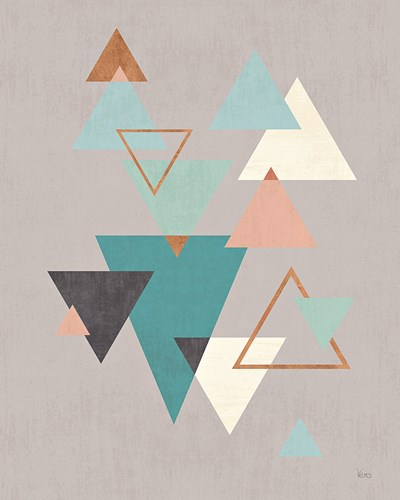 Abstract Geo II Gray Poster by Veronique Charron for $56.25 CAD