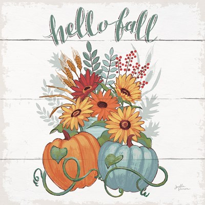 Fall Fun II - Gray and Blue Pumpkin Poster by Janelle Penner for $42.50 CAD