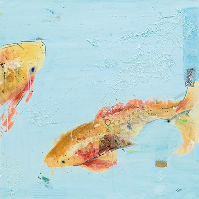 Fish in the Sea II Aqua Poster by Kellie Day for $56.25 CAD