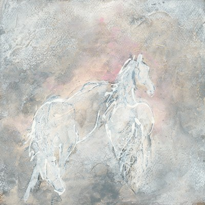 Blush Horses II Poster by Chris Paschke for $57.50 CAD