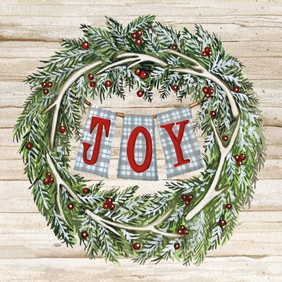 Holiday Saying I on Wood Plaid Poster by Kathleen Parr McKenna for $35.00 CAD