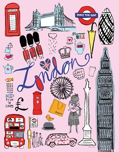 Travel London Poster by Farida Zaman for $41.25 CAD