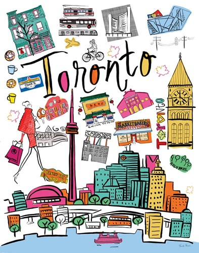 Travel Toronto Poster by Farida Zaman for $41.25 CAD