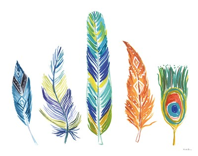 Rainbow Feathers III Poster by Farida Zaman for $85.00 CAD
