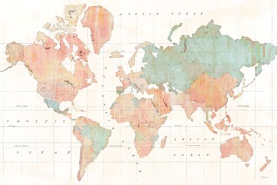 Across the World v3 Poster by Sue Schlabach for $45.00 CAD