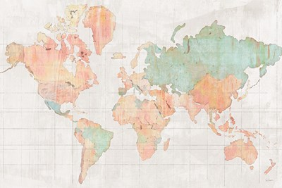 Across the World v5 Poster by Sue Schlabach for $45.00 CAD