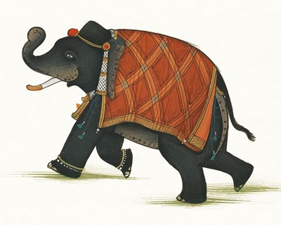 India Elephant II Light Crop Poster by Wild Apple Portfolio for $43.75 CAD