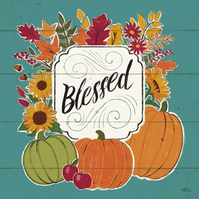 Thankful III Turquoise Poster by Janelle Penner for $50.00 CAD