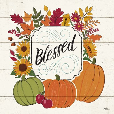 Thankful III White Poster by Janelle Penner for $50.00 CAD