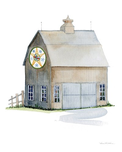 Life on the Farm Barn Element IV Poster by Kathleen Parr McKenna for $57.50 CAD
