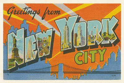 Greetings from New York Poster by Wild Apple Portfolio for $45.00 CAD