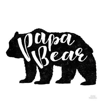 Papa Bear Poster by Laura Marshall for $35.00 CAD