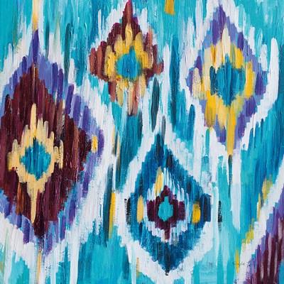 Ikat Jewel III Poster by Farida Zaman for $35.00 CAD