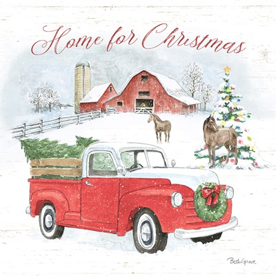 Farmhouse Holidays VII Poster by Beth Grove for $57.50 CAD